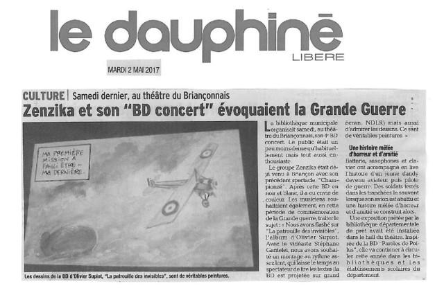 Article La Patrouille le dauphiné 29.04.17