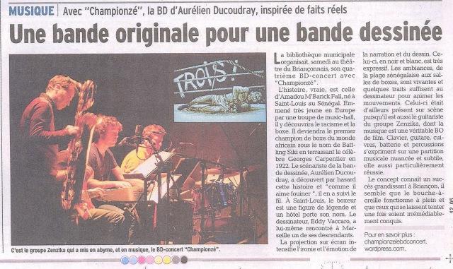 BD Concert Championzé - article Briançon